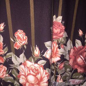NWT 🌹Maxi Skirt🌹 LuLaRoe Xxl Brown and Roses